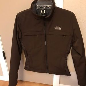 The North Face Woman's Primaloft brown jacket.